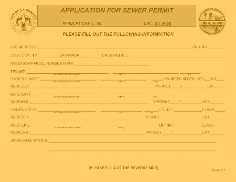 Sewer Permit