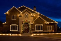 Holiday Decorated Home