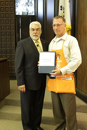 Home Depot Honored