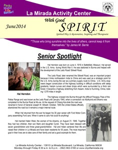With Good Spirit - June 2014 Cover