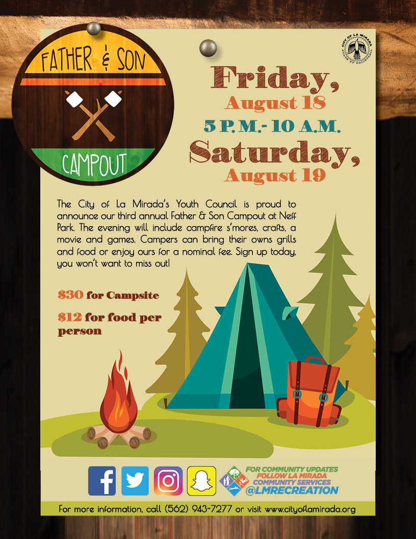 Father Son Campout flyer 2017