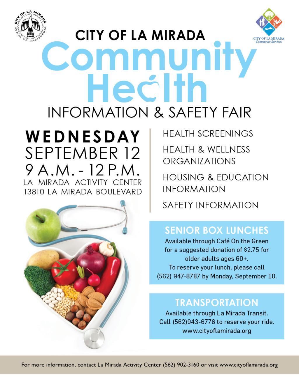 Senior Health Fair 2018