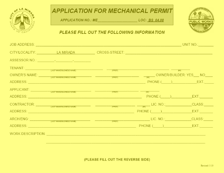Mechanical Permit