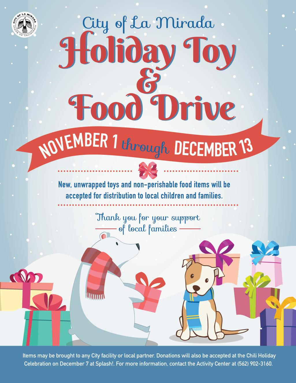 Holiday Toy and Food Drive 2019